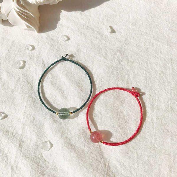 簡約型單珠旺運紅手繩