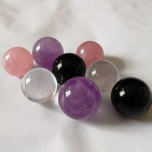 天然水晶球擺件