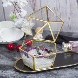 淨化水晶多角形玻璃消磁盒