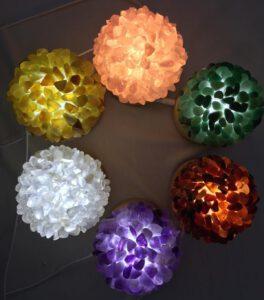天然水晶原石消磁燈